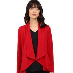 NWT Karen Kane Red Drape Collar Jacket Small